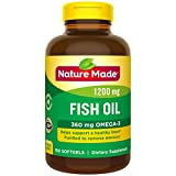 Nature Made Fish Oil 1200 mg Softgels, 150 Count Value Size for Heart Health (Packaging May Vary)