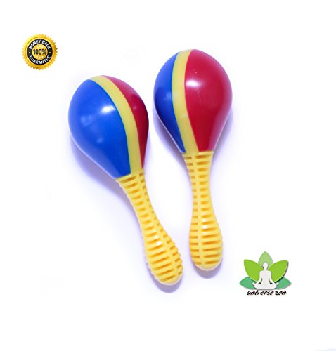 Instrumental Pack - Maracas for Kids - Pair of maracitos(Set of 2) The first instruments for childrens by Universe Zen