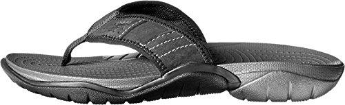 Crocs Men's Swiftwater M Flip Flop, Graphite/Black, 10 M US