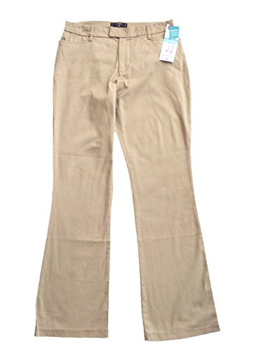 Lee Riders Heavenly Touch Casual Pants Mid Rise Boot Cut (Dark Khaki, 10M) - Rider Mid Rise