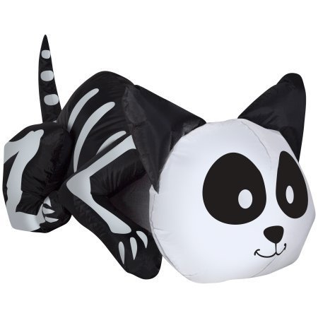 [Airblown Inflatable Cute Halloween Decor 3.5 ft Tall by Gemmy Industries (Cute Cat Skeleton)] (Halloween Inflatables For Sale)