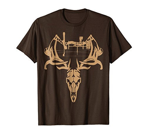 Mens Deer Hunting Bow T Shirt - Gift Shirt for Bow Hunters Large ()