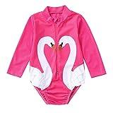 Little Girls Summer Bikini Sets,Jchen Baby Kids Girls Swimsuits Ruffles Cartoon Swan One-Piece Swimwear Swimsuit Bikini (Age:2-3 Years Old, Pink)