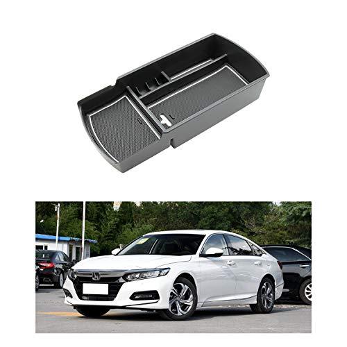 R RUIYA 2018 Accord Car Accessory Center Console Organizer Tray Armrest Storage Box Compatible LX Sport EX EX-L Touring EX-L (White)