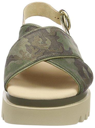 Gabor Kvinder Jollys Strappy Sandaler, Sort Grøn (oliven Kombi)