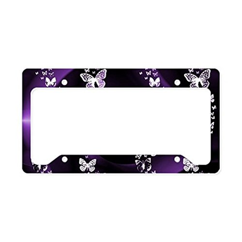 CafePress Purple Butterfly Aluminum License