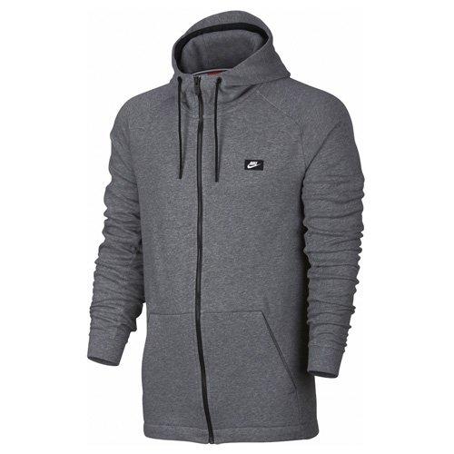 Nike mens M NSW MODERN HOODIE FZ FT 805130-091_L - CARBON HEATHER