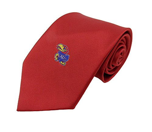 Red Ncaa Tie - NCAA Kansas Jayhawks Red Solid Necktie, Blue, One Size