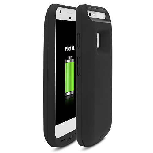 Google Pixel XL Battery CaseALCLAP Pixel XL Battery Case 5000mAh Charging Protective Portable Extended Battery Backup Charger Cover Case Rechargeable Power Juice Bank Case for Google Pixel XLBlack