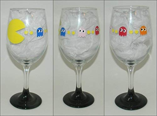 Pac-Man wine glass for sale  Delivered anywhere in USA