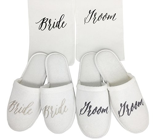 5ae58a6599 Wedding Slippers (Bride and Groom) Gift - Buy Online in Oman ...