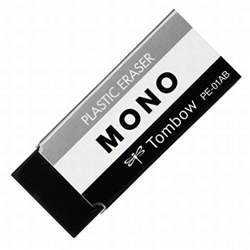 トンボ鉛筆 MONO 消しゴム モノPE01 ブラック PE-01AB