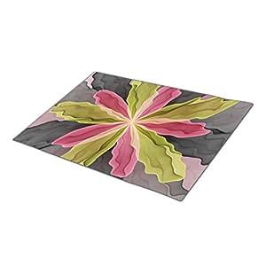 No Sadness Joy Fantasy Flower Fractal Art Custom Doormat Abstract Design Custom Door Mat Flowery
