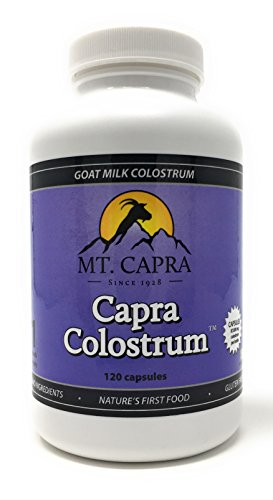 Goat Milk Colostrum by Mt. Capra - CapraColostrum Immune Support Supplement 120 Capsules - 2,900 Milligrams Per - Natural Hormone 120 Capsules Growth