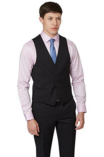 DKNY Men's Slim Fit Black Suit Vest - Dkny London Shop