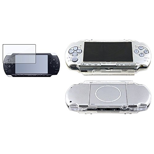 Theo&Cleo Clear Snap-On Hard Case Cover+Screen Protector For Sony PSP 3000 (Protective Crystal Cover Psp)