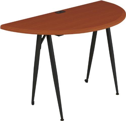 Balt iFlex Modular Desking System Table, Full, Cherry/Black