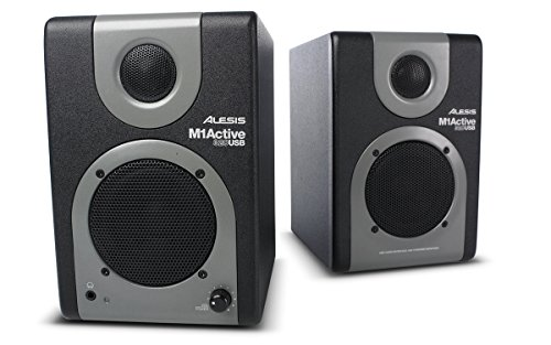 Alesis M1 Active 320 USB | Full-Range Studio Monitor Desktop Speakers with Bass Boost (Pair) (Active Monitors Studio Usb)