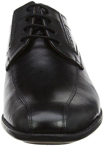 Schwarz Bugatti para Zapatos de Derby 311253041000 Negro Cordones Hombre 88gwaZ