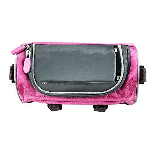 Lafedy Handlebar Bag Phone Holder for Map Waterproof Bike Cycling Front Basket Pannier Bag With Removable Shoulder Strap (Handlebar Map Holder)