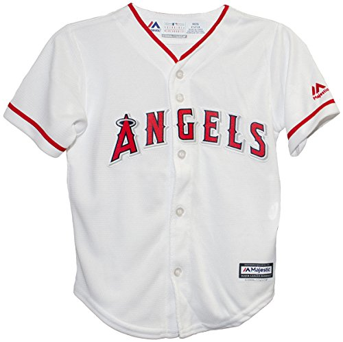 Majestic Athletic Los Angeles Angels 2015 Home Cool Base Toddler Jerseys (3T)