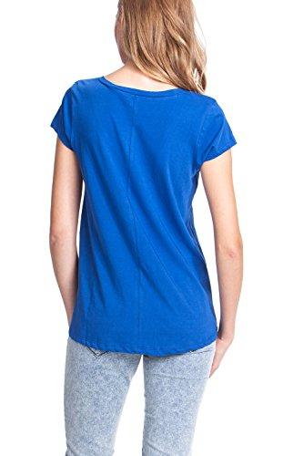 Desigual 51T25H5 - Camiseta, con manga corta, con cuello de pico para mujer Royal 5010