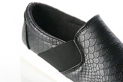 Ladies Womens plana Casuel tobillo bomba Loafer Skater trabajo escuela zapato Size3–8 negro