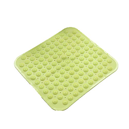 Non-Slip Bath Mat, Machine Washable Antibacterial TDR Bath Mat, Comes with Massage Function And Suction Cup, Suitable for Bathroom (47 Cm X 49 Cm), Two Styles To Choose From,Yellow,4749cm