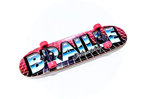 Braille Skateboarding Four Pack Aaron Kyro 11inch Professional Hand Board. Toy Skateboard Comes with Wheels, Trucks, Hardware and Tools. Real Griptape. by Braille Skateboarding (Image #3)