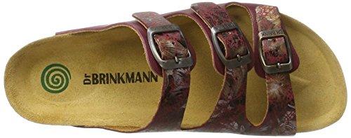 Dr. Brinkmann Damen 701092 Pantoletten Rot (Bordeaux)