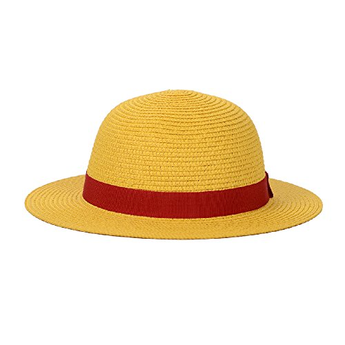 One Piece Monkey D Luffy (One Piece Luffy's Straw Hat Performance Animation Cosplay Hat Yellow)