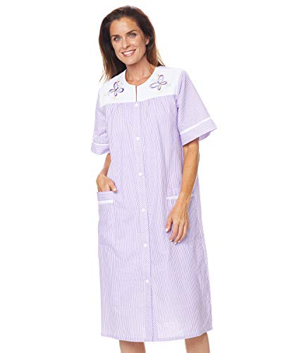 AmeriMark Embroidered Duster Housecoat