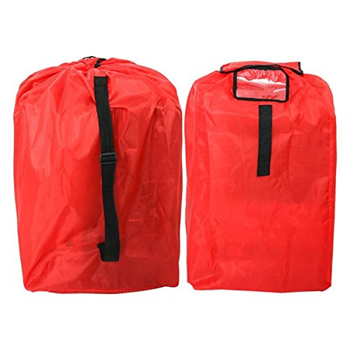 Car Seat Travel Bag Gate Check Bag for Air Travel Airplane Bag Fits All Toddler & Infant Car Seats with Padded Shoulder Straps Easy to Carry Padded Backpack Check Your car seat in Flight, 210d red