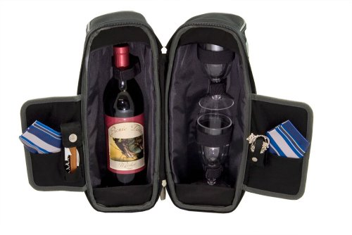 Legacy-A Picnic Time Brand Estate Insulated Wine Tote with Service for 2 ()