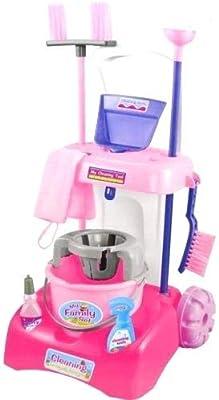 Homespired Carrito de Limpieza con mopa y Cepillo para niños, Juego de Juguetes, Variedad de Herramientas de Limpieza