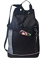 Black - Drawstring Beach Hiking Outdoor Bodypack