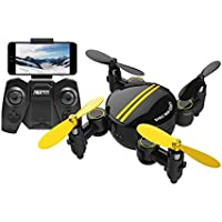 Digood Foldable Camera Drone RC Mini Wifi Quadcopter 2.4 4CH 6-Axis Gyro 3D UFO FPV (Black)