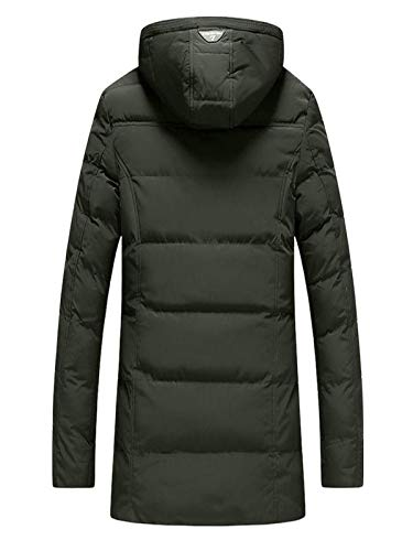 Warm Soleling Cappuccio Da Giacca Armeegrün Invernale Winter Fleece Transitional Zipper Uomo Parka Coat Thick Con Hoodie Bw4zqBR