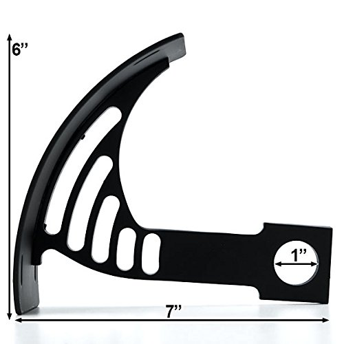 Krator Black Vertical Axle Mount Motorcycle Plate Holder For Harley Davidson Sport Tour Glide FXRT by Krator (Image #2)