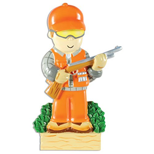 Personalized Hunter in Orange Christmas Tree Ornament 2019 - Hunts-Man Gone Hunting Rifle Gun Trapper Hobby Stalker Woodsman Game Wildlife Shooting Sport Profession Gift Year - Free Customization