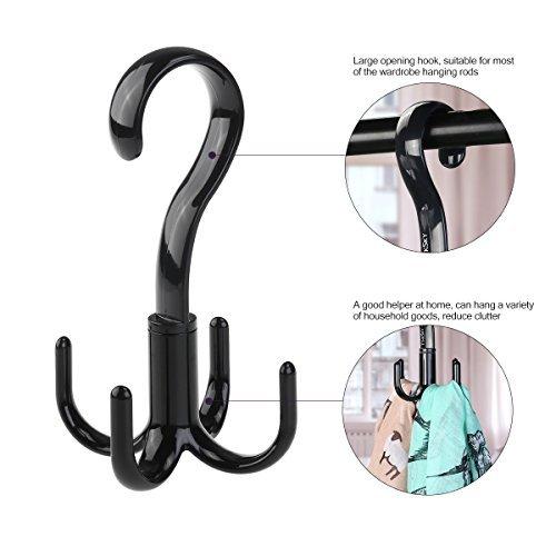 Tinksky Belt Hanger Scarf Tie Rack Holder Hook For Closet