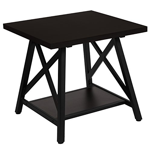 Flash Furniture Hancock Park Collection Rustic Espresso Wood Finish Side Table - Occasional Furniture Collection