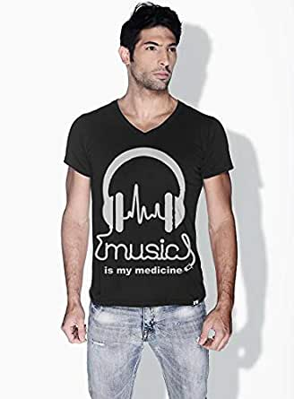 Creo Music Is My Medicine Trendy T-Shirts For Men - Xl, Black