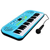 M SANMERSEN Kids Keyboard Piano, 37 Key Portable Electronic Piano for Kids Piano Toys with...