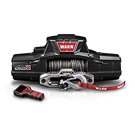 WARN 92815 ZEON 10-S Platinum 12V Electric Winch with Spydura Synthetic Cable Rope: 3/8″ Diameter x 100′ Length, 5 Ton (10,000 lb) Capacity