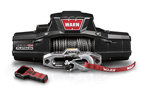 WARN 92815 ZEON 10-S Platinum 12V Electric Winch with Spydura Synthetic Cable Rope: 3/8' Diameter x 100' Length, 5 Ton (10,000 lb) Capacity