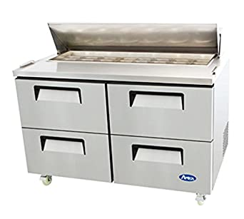 Amazoncom Atosa Usa MSF Stainless Steel Sandwich Prep Table - Stainless steel table with storage