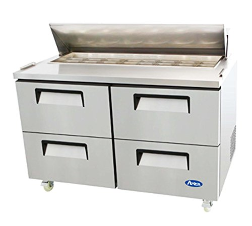 Atosa Usa MSF8313 Stainless Steel Sandwich Prep Table 60'' 4 Drawer Refrigerator by Atosa