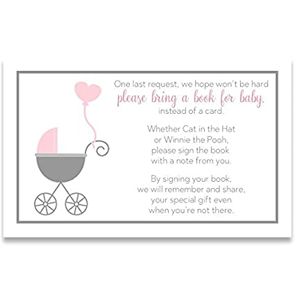 Amazon Com Bring A Book Cards Baby Shower Invitation Book Inserts