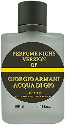 PERFUME NICHE, Eau de Toilette Spray for Men, Mediterranean Freshness, Daytime and Casual Use, for all Skin Types, 3.4 Fluid Ounce